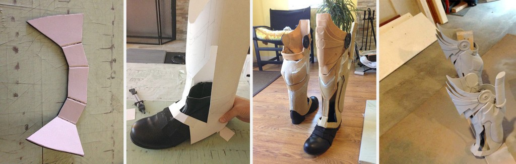 Foam parts > Poster paper modeling > Worbla Construction > Primer